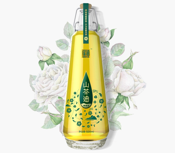 绿油·山茶油包装设计|食用油包装设计|深圳包装设计公司